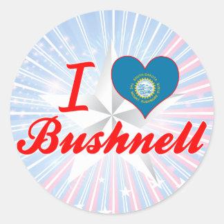 I Love Bushnell, South Dakota Round Sticker