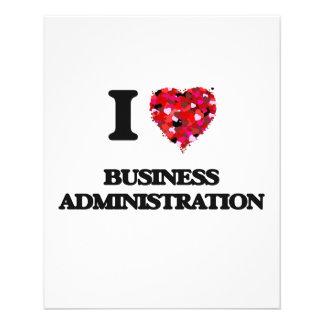 I Love Business Administration 11.5 Cm X 14 Cm Flyer