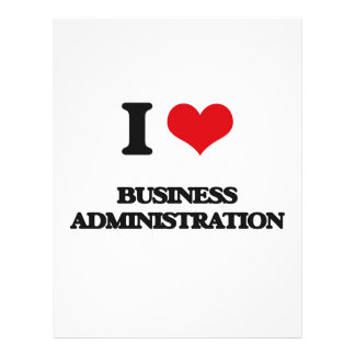 I Love Business Administration Flyer