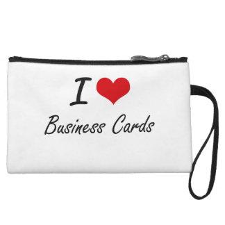 I Love Business Cards Artistic Design Wristlet Purses
