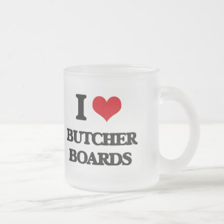 I Love Butcher Boards Mugs