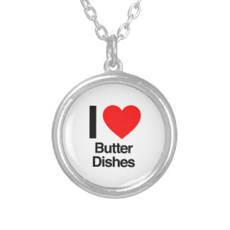 i love butter dishes round pendant necklace