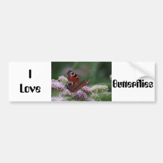 I Love Butterflies Bumper Sticker