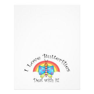 I love butterflies deal with it 21.5 cm x 28 cm flyer