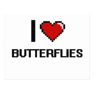 I love Butterflies Digital Design Postcard