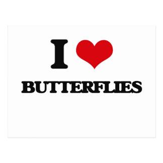 I Love Butterflies Post Cards