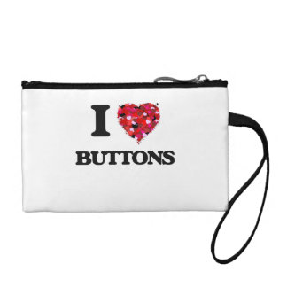 I Love Buttons Coin Wallets