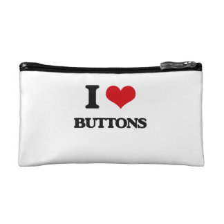 I Love Buttons Cosmetic Bags