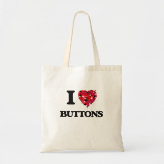 I Love Buttons Budget Tote Bag