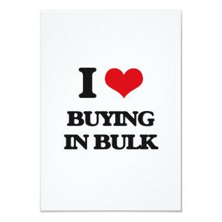 """I Love Buying In Bulk 3.5"""" X 5"""" Invitation Card"""