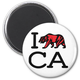 I Love CA - Bear - Magnet