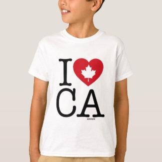 I Love CA | I Love Canada Custom Kid's T-Shirt