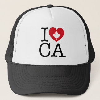 I Love CA | I Love Canada Custom Trucker Hat