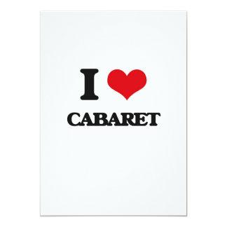 I love Cabaret 13 Cm X 18 Cm Invitation Card