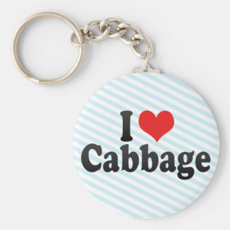I Love Cabbage Key Chain