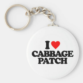 I LOVE CABBAGE PATCH BASIC ROUND BUTTON KEY RING