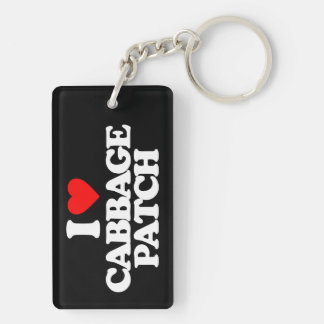 I LOVE CABBAGE PATCH Double-Sided RECTANGULAR ACRYLIC KEY RING