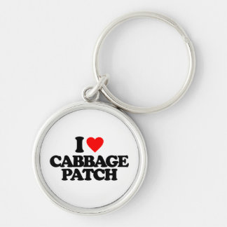 I LOVE CABBAGE PATCH Silver-Colored ROUND KEY RING