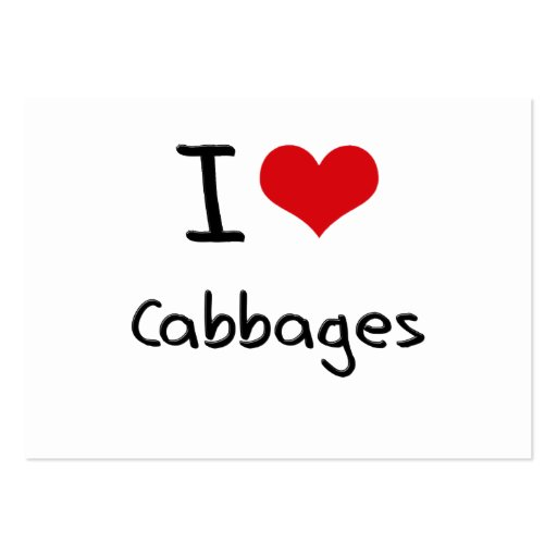 I love Cabbages Business Card