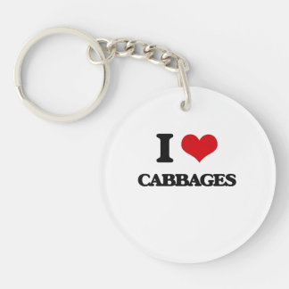 I love Cabbages Acrylic Keychain
