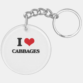 I love Cabbages Acrylic Key Chain