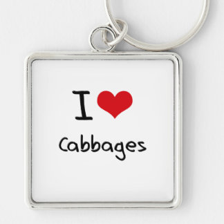 I love Cabbages Key Chain