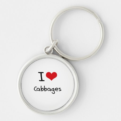 I love Cabbages Keychain