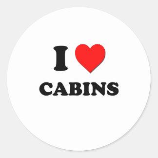 I love Cabins Round Sticker