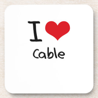 I love Cable Beverage Coasters