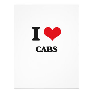 I love Cabs 21.5 Cm X 28 Cm Flyer
