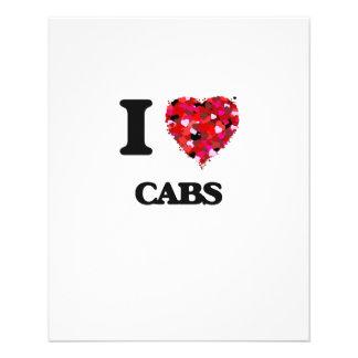 I love Cabs 11.5 Cm X 14 Cm Flyer