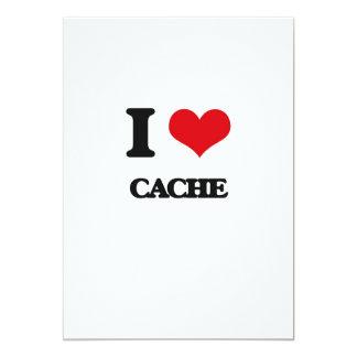 I love Cache 13 Cm X 18 Cm Invitation Card