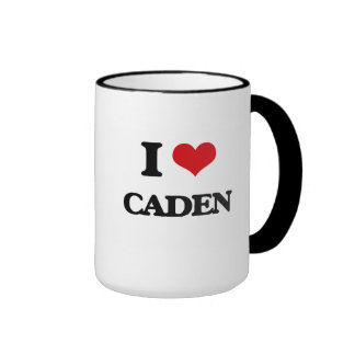 I Love Caden Ringer Coffee Mug