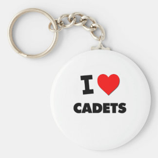 I love Cadets Basic Round Button Key Ring