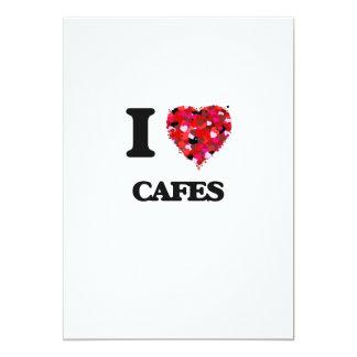 I love Cafes 13 Cm X 18 Cm Invitation Card
