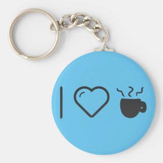 I Love Caffe Mocha Basic Round Button Key Ring