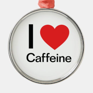 I Love Caffeine Christmas Ornament