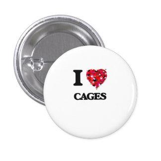 I love Cages 3 Cm Round Badge