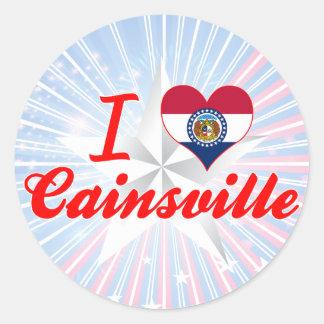 I Love Cainsville, Missouri Round Stickers