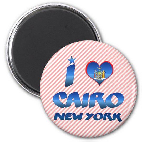 I love Cairo, New York 6 Cm Round Magnet