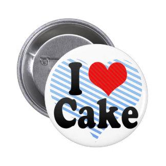 I Love Cake 6 Cm Round Badge