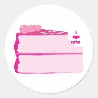 I Love Cake Classic Round Sticker