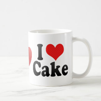 I Love Cake Coffee Mug