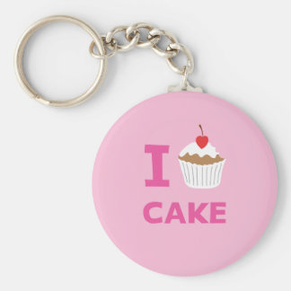 I love cake key ring