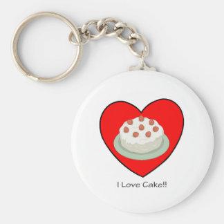 I Love Cake!! Key Ring