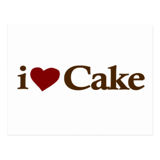 I Love Cake Post Card