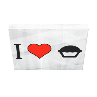 I Love Cakes Stretched Canvas Prints