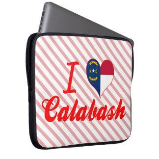 I Love Calabash, North Carolina Laptop Computer Sleeves