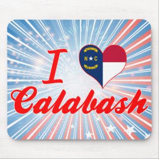 I Love Calabash North Carolina Mousepads