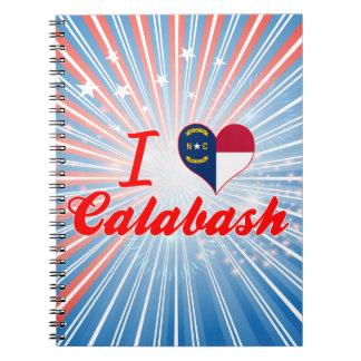 I Love Calabash, North Carolina Spiral Notebook